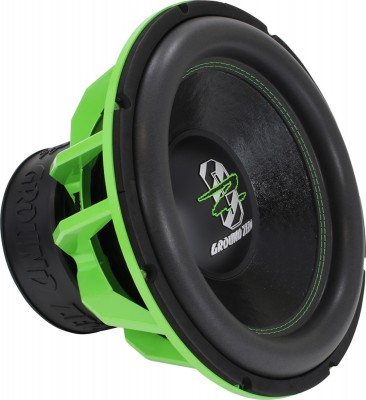 "GROUND ZERO ""GZHW 38SPL GREEN"" 38 cm Subwoofer - 2 x 1 Ohm - 3500 W SPL Power"