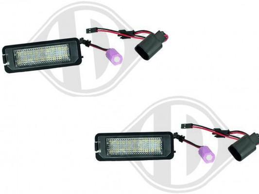 HD LED Kennzeichenleuchten für VW Golf 4/5/6/7, Lupo 99-06, Beetle 06-09, Polo 6R ,Scirocco III 09+, Passat 05-10, CC 09-11, Phaeton 02-07