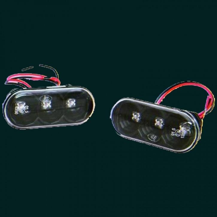 HD Designblinker LED VW+Seat 96-01 Schwarz/Klarglas
