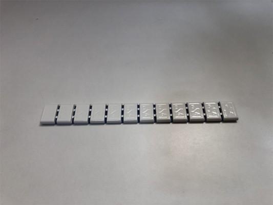 Hofmann Power Weight HPW 380 Klebegewichte in weiß (1 Riegel a 12x5g)