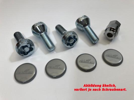Kleeblatt Felgenschloss M12 X 1.5 Kugel Schaftlänge 22mm