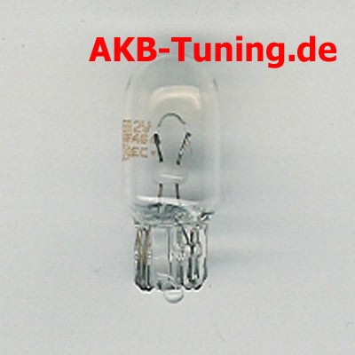 Normfest 12V/5W Glassockellampe (W5W)