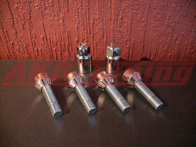 ProLine Felgenschloss-Set RM4 Gewinde M12 x 1,25 X 26-36mm Kegelkopf