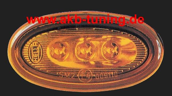 Hella Seitenmarkierungsleuchte 1 Stück LED Version GELB