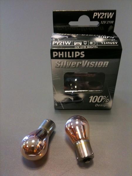 Philips Silver Vision Blinkerlampen Set 12V/21W (BAU15s)