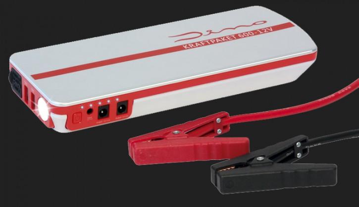 Dino 12V Starthilfegerät mit Powerbank 18.000mAh Batterie-Kapazität und 600A Spitzenstrom