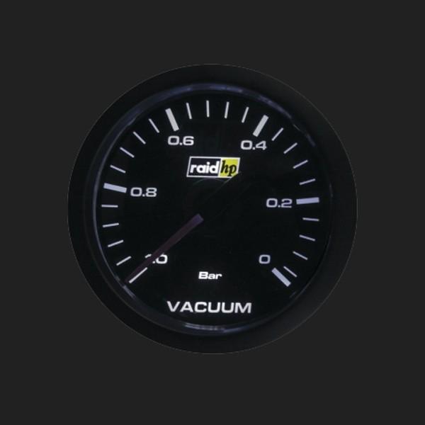 raid hp Zusatzinstrument 52mm Vacuummeter Serie Sport