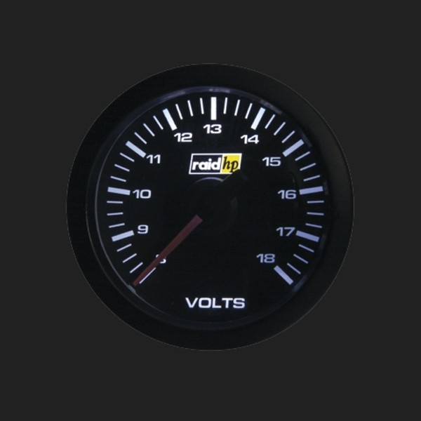 raid hp Zusatzinstrument 52mm Voltmeter Serie Sport