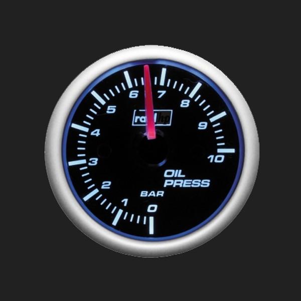 raid hp Zusatzinstrument 52mm Öldruckanzeige Night Flight Blue