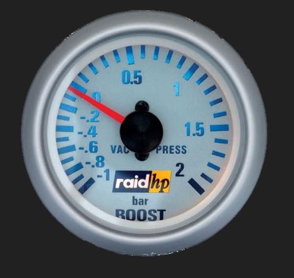 raid hp Zusatzinstrument 52mm Ladedruckanzeige Silver-Line