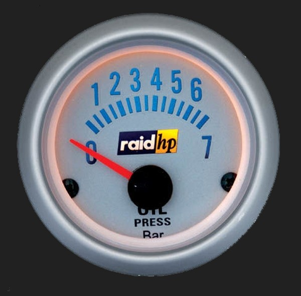 raid hp Zusatzinstrument 52mm Öldruckanzeige Silver-Line