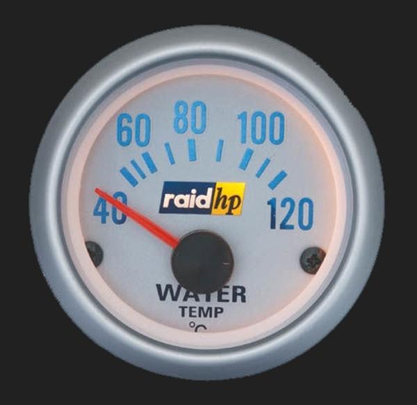 raid hp Zusatzinstrument 52mm Wassertemperaturanzeige Silver-Line