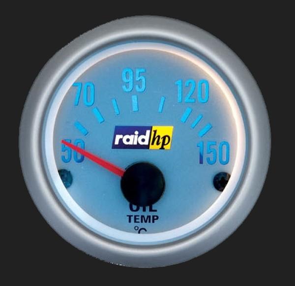 raid hp Zusatzinstrument 52mm Öltemperaturanzeige Silver-Line