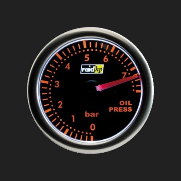 raid hp Zusatzinstrument 52mm Öldruckanzeige Night Flight Red