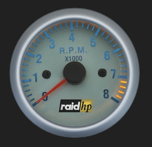 raid hp Zusatzinstrument 52mm Drehzahlmesser Silver-Line
