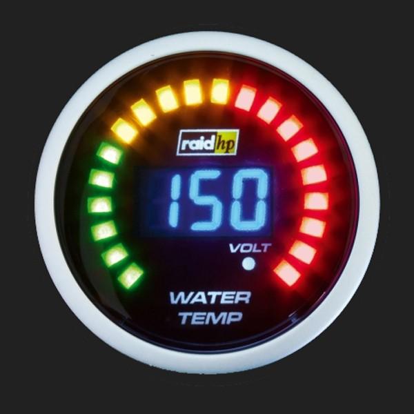 raid hp Zusatzinstrument 52mm Wassertemperaturanzeige Night Flight Digital Blue