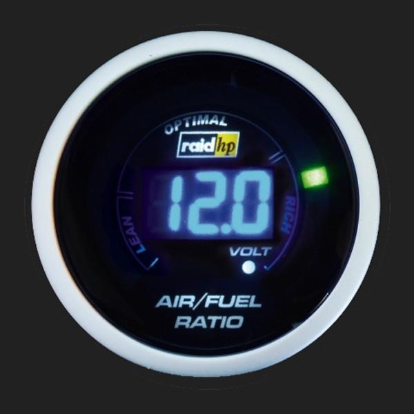 raid hp Zusatzinstrument 52mm Lambdaanzeige Night Flight Digital Blue