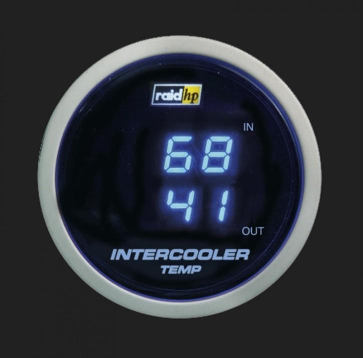 raid hp Zusatzinstrument 52mm Ladeluftkühler Temperaturanzeige Night Flight Digital Blue