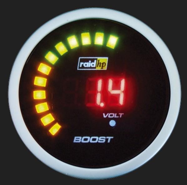 raid hp Zusatzinstrument 52mm Ladedruckanzeige Night Flight Digital Red