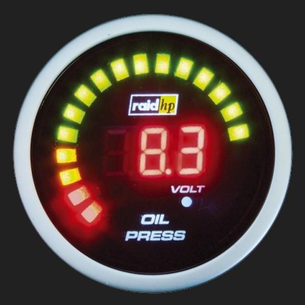 raid hp Zusatzinstrument 52mm Öldruckanzeige Night Flight Digital Red
