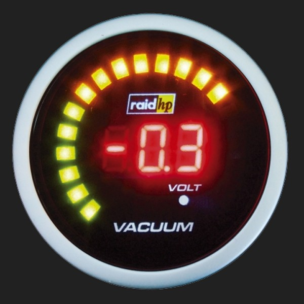 raid hp Zusatzinstrument 52mm Vacuum Meter Night Flight Digital Red