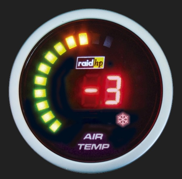 raid hp Zusatzinstrument 52mm Thermometer Night Flight Digital Red