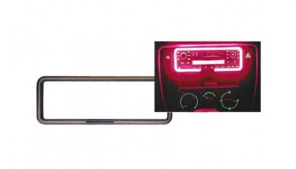 RTA 1-DIN Neon Radio Rahmen mit externer Soundsteuerung Farbe rot