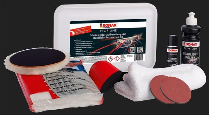 SONAX PROFILINE Scheinwerfer Aufbereitungs Set