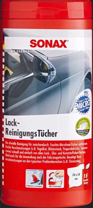 SONAX Lack Reinigungs Tücher Box (15 Tücher)