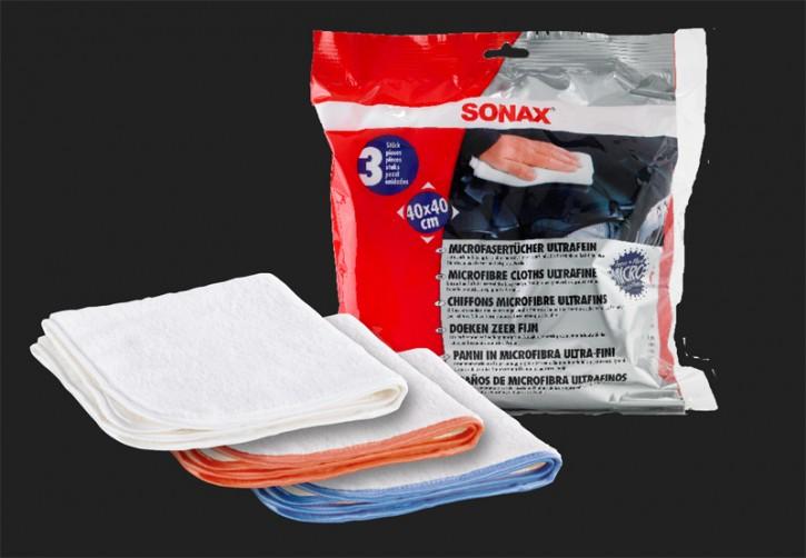 SONAX Microfaser Tuch ultrafein (3 Stück)