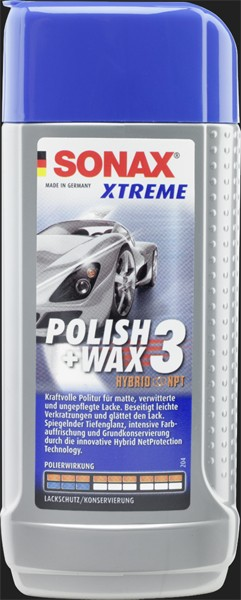 SONAX Xtreme Polish & Wax 3 Hybrid NPT (500ml)