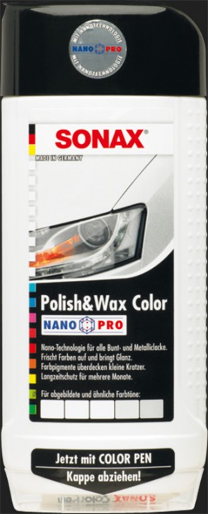 SONAX Polish & Wax Color NanoPro weiß (500ml)