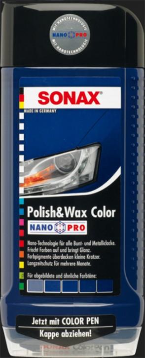 SONAX Polish & Wax Color NanoPro blau (500ml)