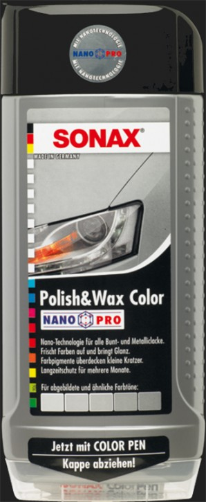 SONAX Polish & Wax Color NanoPro silber/grau (500ml)