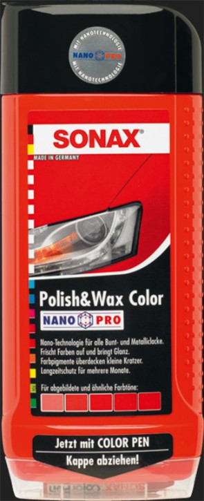 SONAX Polish & Wax Color NanoPro rot (500ml)