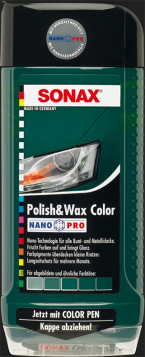 SONAX Polish & Wax Color NanoPro grün (500ml)