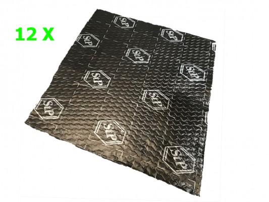 """Standartplast """"Black Silver"""" Bulk Pack (12 x 750x500x1,8mm)"""