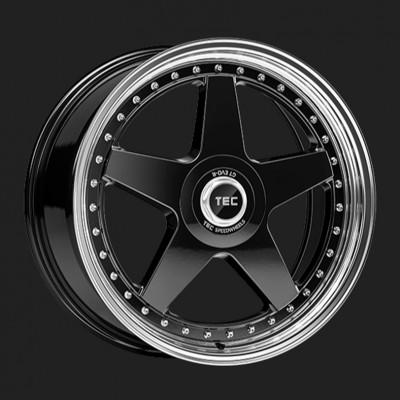 "TEC Alufelge GT-EVO-R in 8,5 X 19"" schwarz-glanz-hornpoliert (5-Loch)"