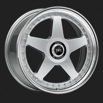 """TEC Alufelge GT-EVO-R in 8,5 X 19"""" hyper-silber-hornpoliert (5-Loch)"""