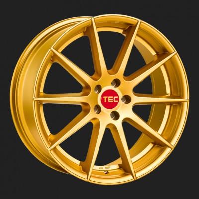 """TEC Alufelge GT7 in 8,5 X 19"""" gold (5-Loch)"""