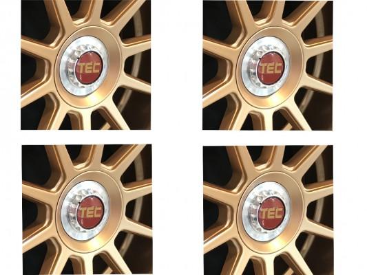 TEC ALU-Zentralverschluss-Deckel-Set in Rosé-Gold für Alufelge GT8