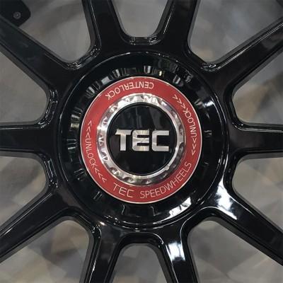 TEC ALU-Zentralverschluss-Deckel in Schwarz-Glanz für Alufelge GT8
