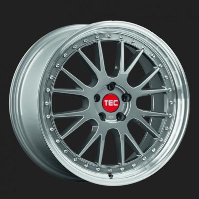 """TEC Alufelge GT-EVO in 8,5 X 19"""" Titan-Glanz hornpoliert (5-Loch)"""
