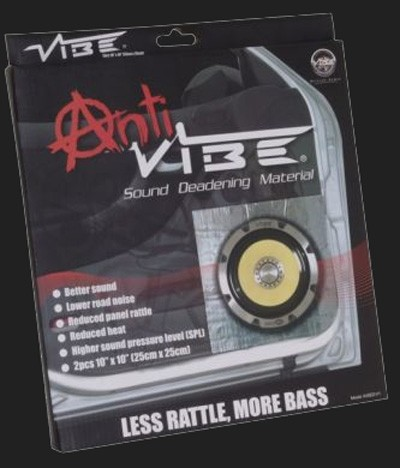 "Vibe Schalldämmung ""ANTI VIBE"" 2x 25cmx25cm selbsklebend (0,12 qm²)"