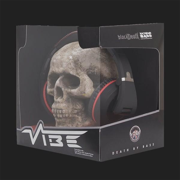 Vibe Black Death Over Ear Kopfhörer - schwarz