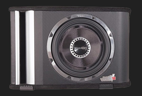 "Vibe BlackAir Vented 12"" (30cm) passive Subwooferkiste Max.Power 1600W ""Black Edition"""
