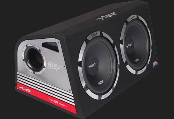 "Vibe Slick SLR Vented TWIN 2 x 12"" (2 x 30cm) aktive Subwooferkiste Max.Power 2400W"