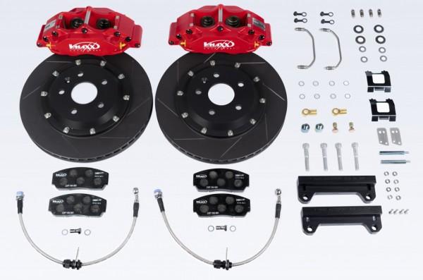 V-MAXX Big Brake Kit (290mm) Ford FIESTA VI (JA8) alle Modelle mit serienmäßigen Trommelbremsen hinten bis 103 kw Bj. 6.08 > 12.16 inkl. Stahlfexschläuchen
