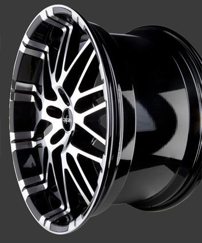 alufelge oxigin 14 oxrock in 8 5 x 19 black full polish. Black Bedroom Furniture Sets. Home Design Ideas
