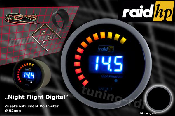 raid hp zusatzinstrument 52mm voltmeter night flight. Black Bedroom Furniture Sets. Home Design Ideas